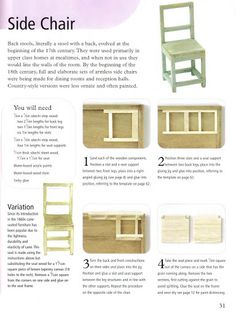 Dolls House Do it yourself Step by step instruction Best Doll House, My Doll House, Barbie House, Miniature Furniture, Dollhouse Furniture, Furniture Plans, Miniature Chair, Steel Furniture, Vitrine Miniature