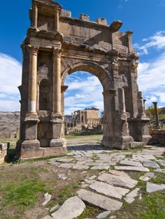The Arch of Caracalla at the Roman Ruins of Djemila, Algeria