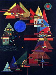 """Wassily Kandinsky, """"The deeper the blue becomes, the more strongly it calls man… Wassily Kandinsky, Art Timeline, Franz Marc, Open Art, Art Moderne, Russian Art, Matisse, Art History, Contemporary Art"""