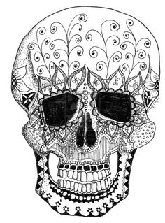 Doodle Art~ Day of the Dead by ~Spiritdanzer on deviantART