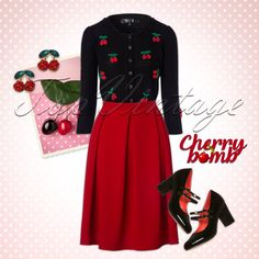 This gorgeous look can't be missed in your retro wardrobe ; Pin Up Outfits, Dressy Outfits, Office Outfits, Vintage Stuff, Vintage Looks, Retro Vintage, Rockabilly Clothing, Rockabilly Outfits, Retro Look