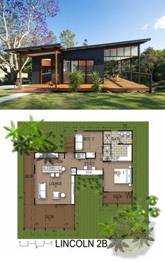 This Modern Tropical Home is a Granny Flat for a Hip Elderly Couple, . - This Modern Tropical Home is a Granny Flat for a Hip Elderly Couple, - Modern Tropical House, Small Modern Home, Tropical Houses, Small Home Plans, Tropical House Design, Tiny House Plans, Japanese Modern House, Traditional Japanese House, Cabin House Plans