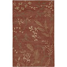 Hand-knotted Red Wool Legacy Rug (9' x 13')