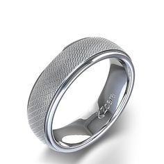 unique rings | Unique Men's Wedding Ring in 14k White Gold