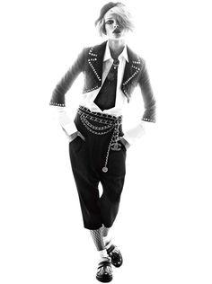 EditaVAlexiShoot7 Edita Vilkeviciute Rocks 80s Style for Vogue Germany May 2013 by Alexi Lubomirski