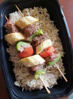 Cajun Jerk Chicken Kabobs over Rice  -- Evensen Personal Menus