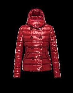 MONCLER Women Designer Ski Wear |  Red 'Plane' Jacket Women -