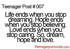 Dream hope and love