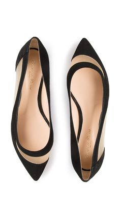 GIANVITO ROSSI Mesh Ballerina flats in black. i know these aren't high heels but love them