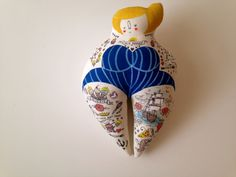 Large Woman Vintage Circus Sideshow Performer - Hipster Art Plush Doll of Big Momma Hand Painted OOAK by BlueRaspberryDesigns on Etsy https://www.etsy.com/listing/217332200/large-woman-vintage-circus-sideshow