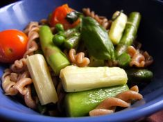 The flavor of the asparagus is beautifully highlighted with cherry tomatoes in this Asparagus Penne recipe.