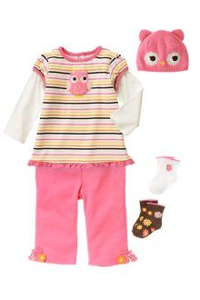 Aaaack!!!!  Gymboree your new line of cute baby girl owl stuff is super adorable!