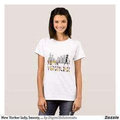 New Yorker lady beauty elegant chic T-Shirt - Fashionable Women's Shirts By Creative Talented Graphic Designers - #shirts #tshirts #fashion #apparel #clothes #clothing #design #designer #fashiondesigner #style #trends #bargain #sale #shopping - Comfy casual and loose fitting long-sleeve heavyweight shirt is stylish and warm addition to anyone's wardrobe - This design is made from 6.0 oz pre-shrunk 100% cotton it wears well on anyone - The garment is double-needle stitched at the bottom and…