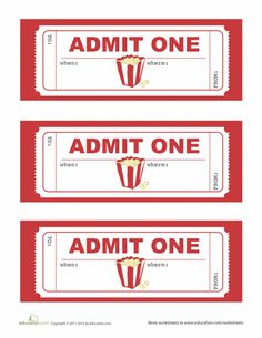 Movie Party Invitations  Movie Ticket Invitations Template