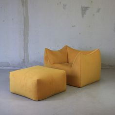 NEWLY upholstered Bambole Lounge Chair and Foot Stool, designed in 1972 by Mario Bellini for B&B Italia, from firmalondon.com