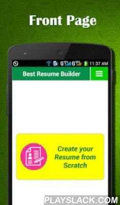 Smart Resume Builder CV Free Android App playslackcom Smart
