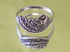 Vintage Sterling Silver Marcasite by EternalElementsEtsy on Etsy