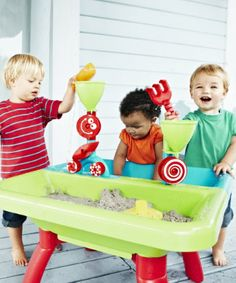 Educational Toys and Games. ELC Sand and Water Table. Sand available separately (only in stores). The brilliant Sand and Water Table comes with lots of toys, so your child can really enjoy playing with sand and water at home. #Kids #Toys #Fun