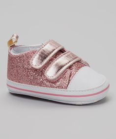 Take a look at this So Dorable Pink & White Glitter Sneaker on zulily today!