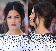 Jenna Dewan-Tatum's hair was flawless at the London Premiere of 'Magic Mike XXL' on June 30. Her short bob was pulled back into a romantic updo and we loved it — what do you think of her hairstyle?