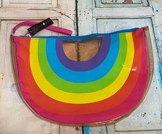 Rainbow Clear Zippered Pouch New | Mercari