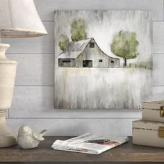 Gracie Oaks 'Weathered Barn' Acrylic Painting Print Format: Wrapped Canvas, Size: H x W x D Simple Oil Painting, Diy Painting, Painting On Wood, Painting On Windows, Painting Flowers, Canvas Painting Designs, Painting Prints, Canvas Art, Painting Canvas