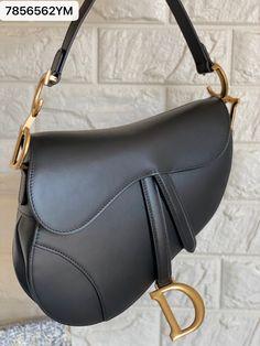 Christian Dior saddle plain leather black 25 Dior Bags, Christian Dior, Shoulder Bag, Leather, Black, Fashion, Dior Handbags, Moda, Black People
