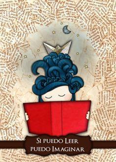 """""""Si puedo leer, puedo imaginar"""" por Sandra Cerezo, selección del XXIV Concurso Nacional de Cartel Invitemos a Lee"""