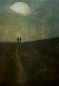 """To the moon Alice.to the moon"" - jamie heiden Art And Illustration, Landscape Art, Landscape Paintings, Painting Inspiration, Art Inspo, Nocturne, Aesthetic Art, Dark Art, Watercolor Art"