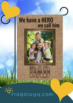 Custom Fathers Day photo flags from flagology.com