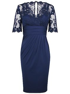 Buy Alexon Lace Top Dress, Blue online at JohnLewis.com - John Lewis