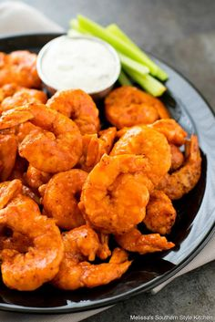 This fiery Buffalo Shrimp Recipe will bring the heat to your appetizer and dinner menu. Serve them with blue cheese dip for a restaurant favorite at home.