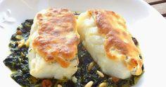 """Bacalao confitado con muselina suave de ajo    El nombre más correcto del plato sería """"Bacalao confitado a la florentina con muselina..."""