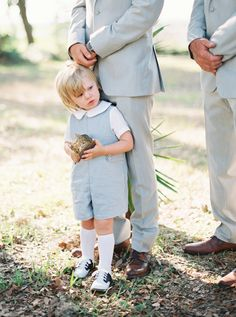This ring bearer get-up couldn't be cuter: Photography : Kylie Martin Photography Read More on SMP: http://www.stylemepretty.com/2016/07/13/st-simons-teal-colored-wedding/