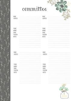 A4 PTA Planner 2016-2017 by PlannerBella on Etsy