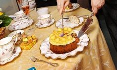 Every year on Mothering Sunday, the Vicar's wife puts a Simnel cake on the table for a special afternoon tea. Easter Party, Easter Table, Simnel Cake, Mothering Sunday, Vicars, Afternoon Tea, Bridal Shower, Treats, Baking