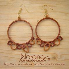 Quilled Earrings - Brown Hoops by norano-handmade on DeviantArt