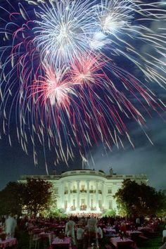 Fireworks from The White House's lawn