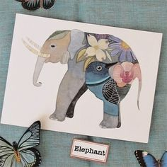 I love ALL things elephant... this is too cool.      Elephant by Geninne on Etsy, $30.00