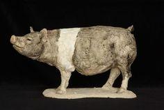 Polymer Clay Animals, Ceramic Animals, Ferdinand The Bulls, Pig Art, Pig Farming, Sculpture Clay, Ceramic Sculptures, Indian Elephant, Cat Sitting