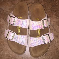 Birkenstock Arizona Snake Print Sandals Sz 39 Excellent condition, worn once, no box NO TRADES Birkenstock Shoes Sandals