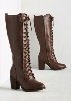 Victorian Shoes Picking Up Steampunk Boot in Mahogany $64.99 AT vintagedancer.com