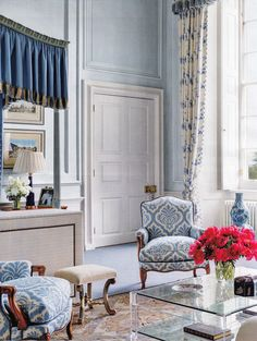 "Interior Designer Mark Gillette - English Country Estate Apartment ""Burley"" published AD May 2014"