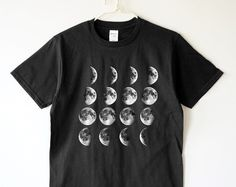 Moon phase tshirt moon tshirt moon night space funny tee shirt women shirt men shirt women tee shirt men tee shirt women tshirt men tshirt