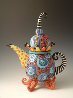 Mad Hatter teapot by natalyasots on Etsy