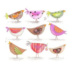 birdies - cute idea for spring applique projects