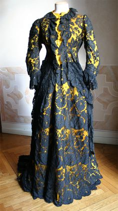 ca 1882 ~ Oh, my goodness, it looks like I was alive in 1882, this MUST have been MY dress!!