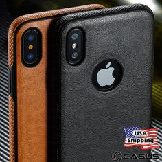 info for 882ea 59b5b SLIM Luxury Leather Back Ultra Thin TPU Case Cover for iPhone X   8 7 6s  Plus   eBay