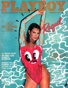 Hattie Stewart doodles on Playboy Magazine #artsyfartsy #doodles