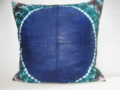 Hand tie dyed pillow Throw Pillow Cover 20 x 20 by AddisonMade, $70.00
